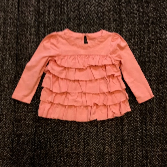 Gap frilly long sleeved T-shirts 12-18m